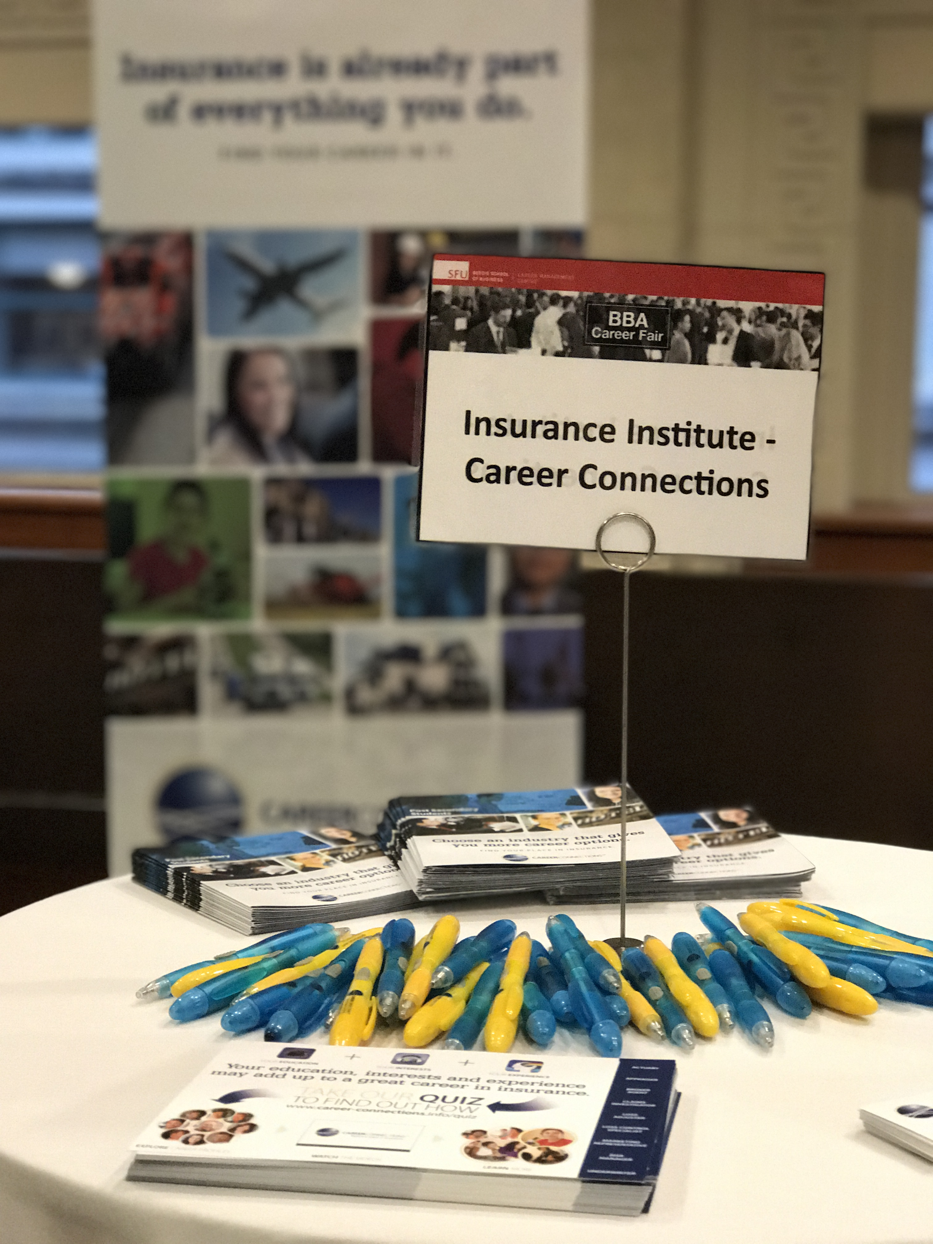 Display of Career Connections Materials at a Career Event