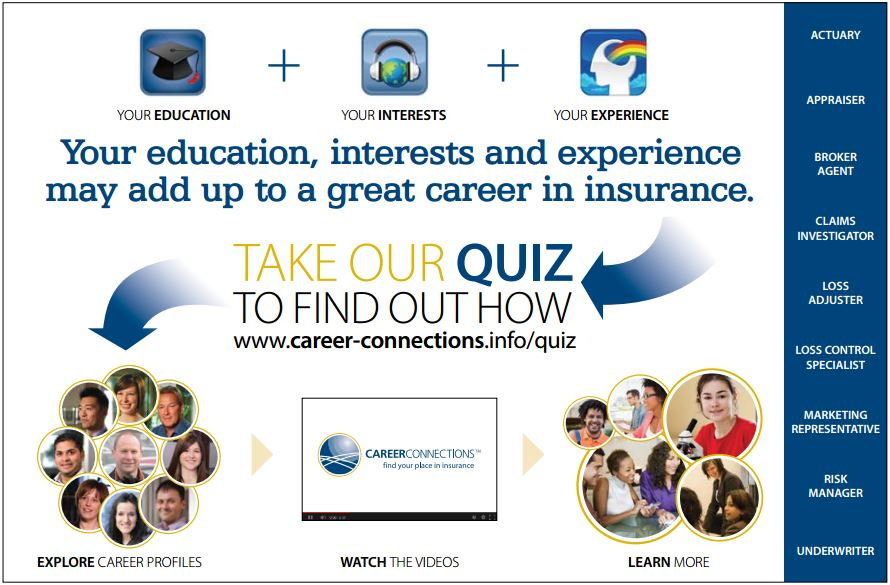 Your education, interests and experience may add up to a great career in insurance.